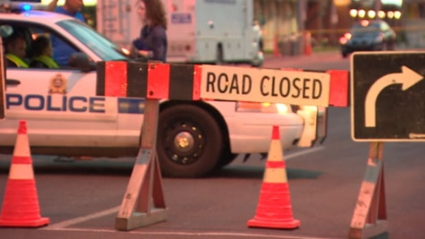 Police closed that section of Jasper Avenue on Wednesday night.