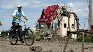 Slovyansk Ukraine damage