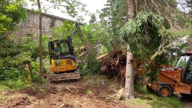 Post-tropical storm Arthur has cost Kings Landing Historical Settlement more than $100,000 in lost revenue and in clean-up costs.