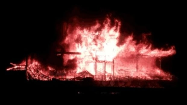 The 120-year-old grandstand at Vernon's Kin Race Track was destroyed in massive fire overnight Wednesday.
