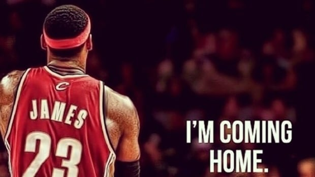 LeBron James tweeted this photo on Friday afternoon to his followers of his decision to return to the Cleveland Cavaliers.