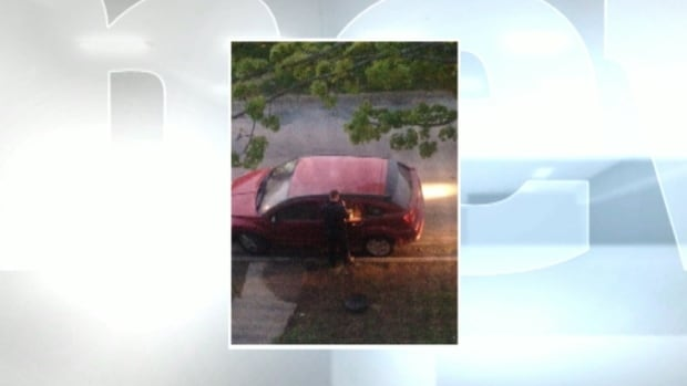The couple's 2008 Dodge Caliber was parked in front of their Halifax home when it went up in flames in the early hours of May 31. This image was supplied by the couple.