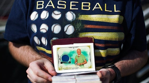 The Dr. James Andrews trading card is one of 350 Topps' Allen & Ginter rare collectibles of sports personalities not athletes.