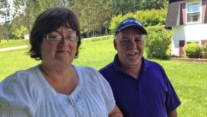 Donna and Paul Leonard of Hampton are happy to have power back