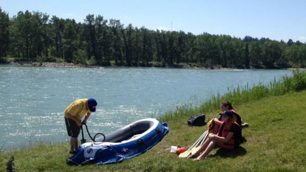 The Calgary Fire Department is hoping people will stay off the rivers over the weekend, which is expected to be a scorcher.