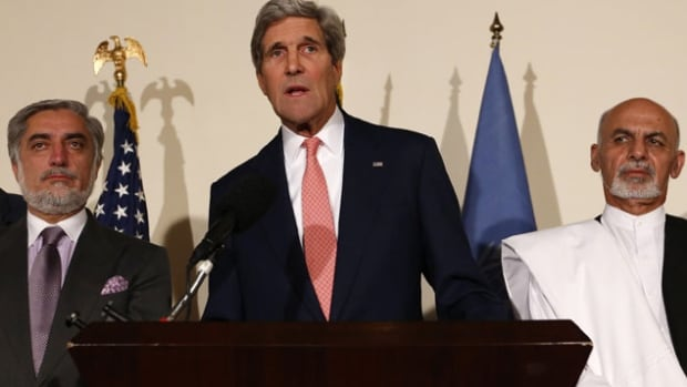 U.S. Secretary of State John Kerry travelled to Afghanistan over the course of a months-long standoff between rival presidential candidates in an attempt to broker an agreement.