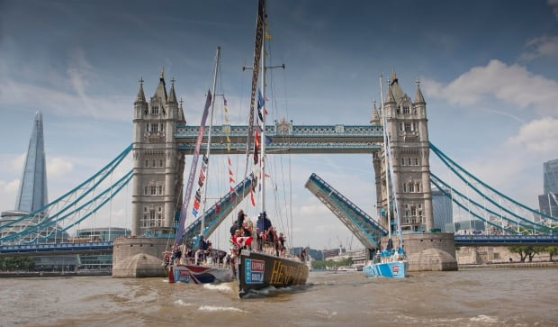 Clipper Race - Tower Bridge, London, July 12, 2014
