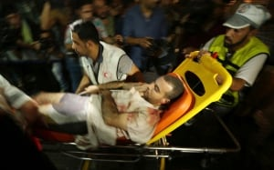 Wounded Palestinan