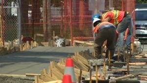 Bannerman Park construction workers