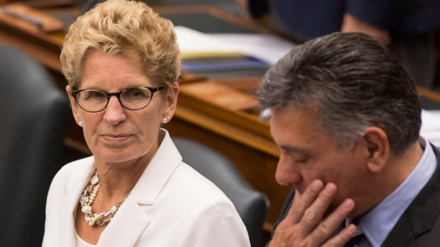 """There is a lot more work to do in the province, so stay tuned for how we're going to continue to build this province up,"" Ontario Premier Kathleen Wynne said when asked if she would prorogue the government."