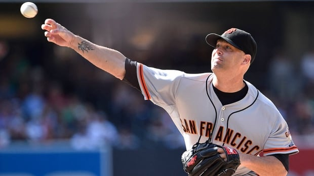 Giants pitcher Tim Hudson will be heading to his fifth all-star game this week. He is 7-6 with a 2.87 earned-run average this season. Hudson and three other pitchers are replacing Madison Bumgarner, Johnny Cueto, Tyson Ross and Julio Teheran, all of whom pitched on Sunday.