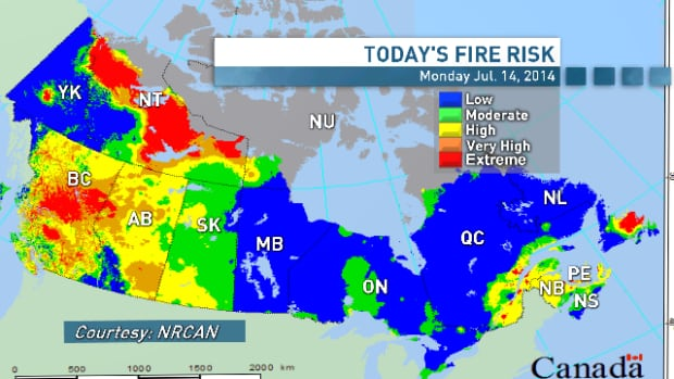 Forest Fires In Canada Map