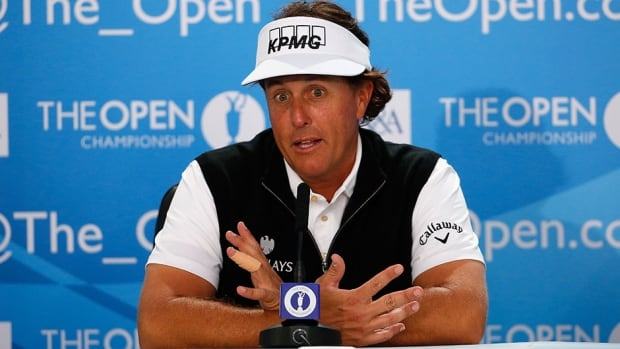 Phil Mickelson has been struggling this season but remains confident in defending his British Open championship this week.