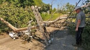 Storm Arthur damage