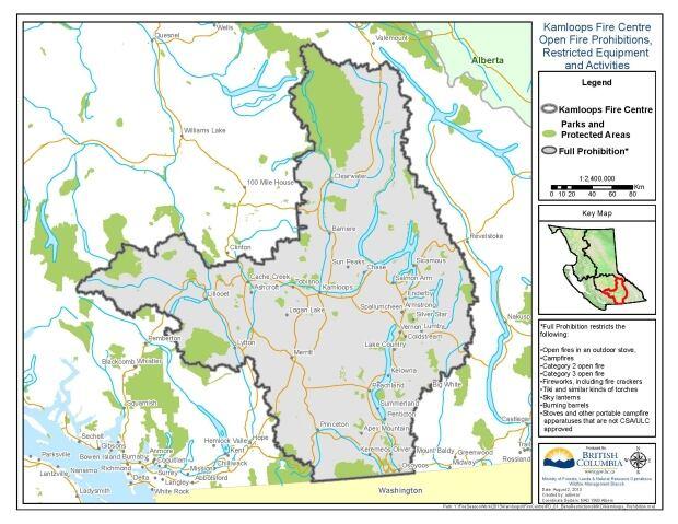 Kamloops Campfire Ban Map