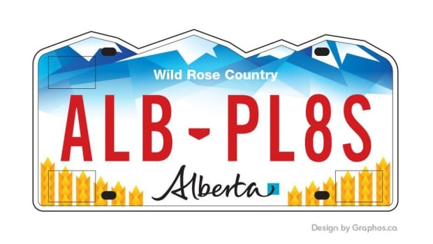 Graphos, an Edmonton design firm, came up with this license plate after becoming frustrated over the three options presented by the Alberta government.