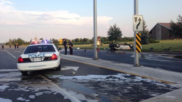 A crash has left two people dead in Halton Hills on Monday evening.