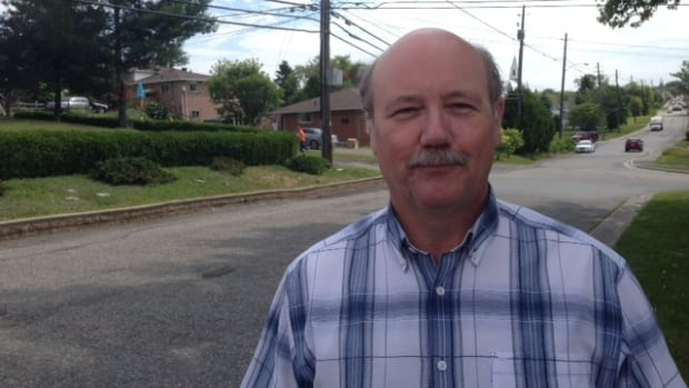 Ward 3 Greater Sudbury city councillor Claude Berthiaume outside his Chelmsford home. After 10 years on council, he has decided not to run again this October.