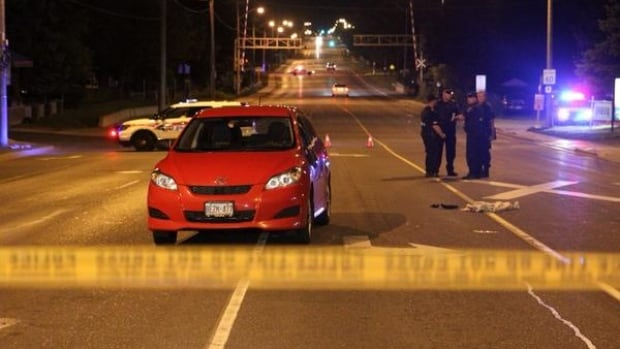 A man was seriously injured after being struck by a car in Markham on Tuesday night.