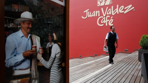 The Juan Valdez coffee chain will be competition for Starbucks as it opens in Bogota, Colombia.