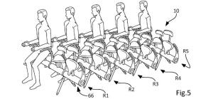 Airbus retractable bicycle airplane seat