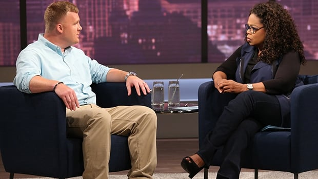 Matt Sandusky, adopted son of convicted child molestor Jerry Sandusky, talks to Oprah Winfrey in an interview aired Thursday.
