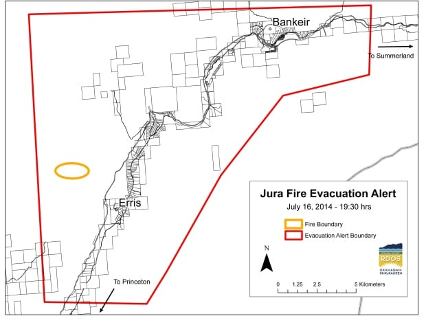 Jura Fire evacuation alert - July 16, 2014
