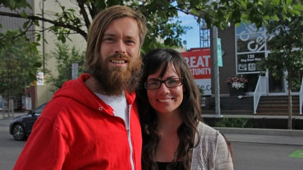 Matthew Davey and Kat Walters are building a mini-house in Guelph, Ont. They've purchased an eight-by-20-foot flatbed trailer and plan to build their home on top of it.