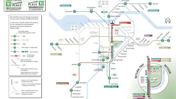 There are 17 free parking lots in Ottawa and Gatineau where Redblacks ticket holders can catch a free bus or shuttle to Lansdowne Park on game day.