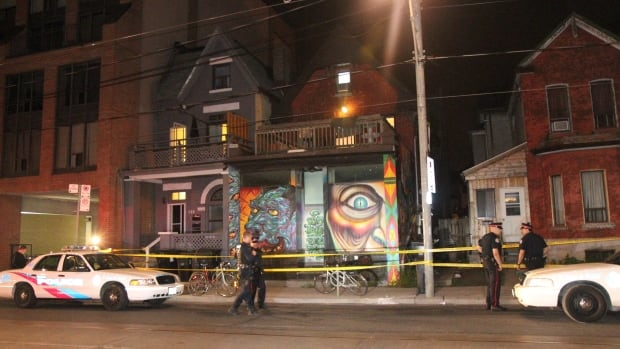 A man was taken to hospital after a shooting near Bathurst and College Streets overnight.