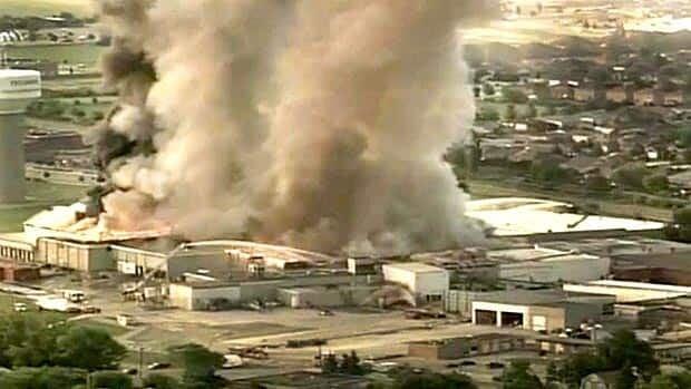 Tecumseh plant fire RAW