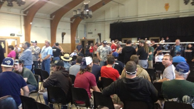 Hundreds of Bombardier workers recently attended a Unifor meeting at Thunder Bay's CLE Coliseum. They are concerned about changes the company wants to make to their pension plan.