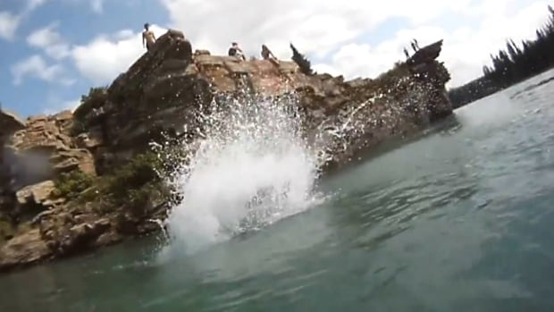 Cliff jumping is a popular pastime in Seebe, located west of Calgary, although RCMP say it is on private property and it's illegal to be there. Earlier this week two young men died while swimming in the cold waters by the nearby Horseshoe Dam.