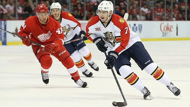 Dmitry Kulikov (7) had eight goals and 11 assists for 19 points with 66 penalty minutes in 81 games for the Panthers last season.
