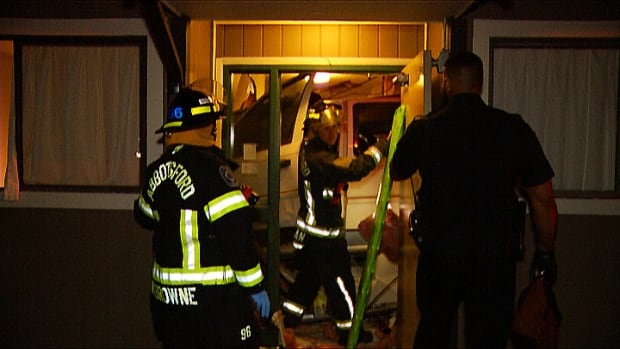 Miraculously, no one in the two damaged suites was injured when a van plowed into an Abbotsford apartment building early Friday morning.