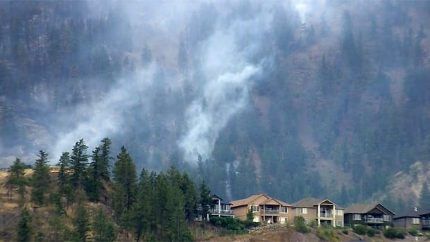 Homes in West Kelowna are threatening by a wildfire that has grown to 400 hectares in size.