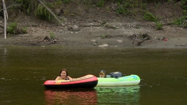 The Pembina River is a popular spot for tubing each summer.