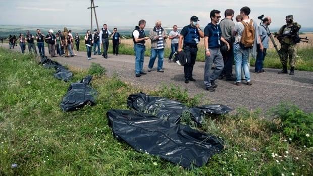 International observer at MH17 crash site