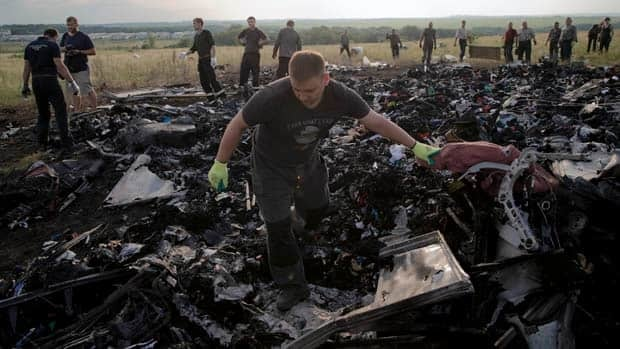 Complications at MH17 crash site