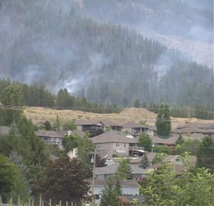 West Kelowna wildfire - ground crews Saturday, July 19