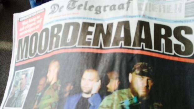 The headline on Saturday's edition of De Telegraaf, the most widely read daily newspaper in the Netherlands, reads: 'Murderers.'