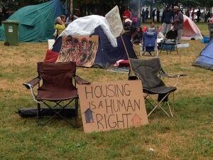 Oppenheimer Park homeless protest camp