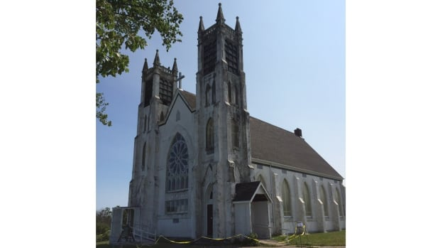 St. Alphonsus church was erected in 1916 along Highway 28 near the mouth of Sydney Harbour. Structural issues shut the nearly 100-year-old church in 2007.