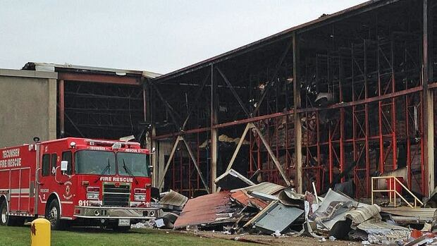 Tecumseh Fire Chief Doug Pitre said the canning section and the dry warehouse were turned over to the company Saturday.