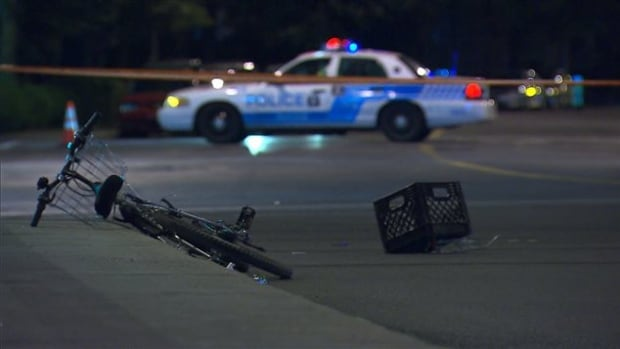 A driver ran a red light and hit a cyclist on Sunday evening, sending him to hospital in critical condition.