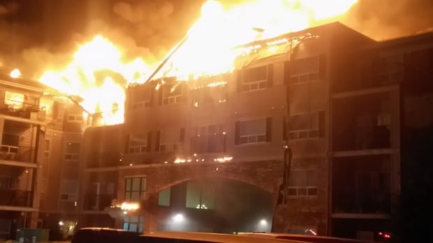 The fire at the South Hampton condo complex broke out around 1 a.m. Monday.