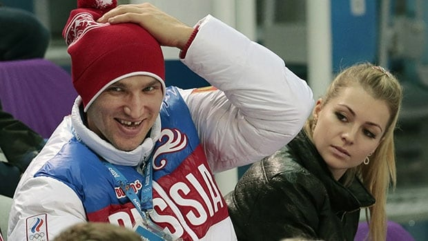 Alex Ovechkin, left, and Maria Kirilenko attended a figure skating event together at the Sochi Olympics in February.