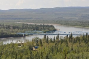 Pelly Crossing, Yukon bridge