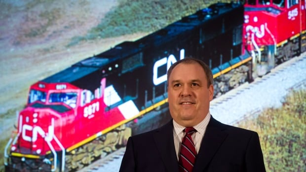 CN Rail president and CEO Claude Mongeau says the railway carried record volumes of freight in the second quarter.
