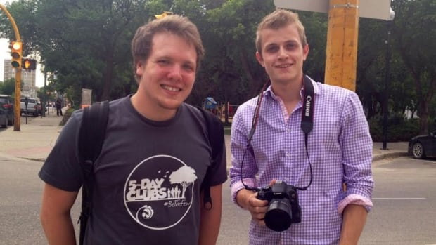 Ben McLellan, left, and Levi Durston started Humans of Regina as a summer project.